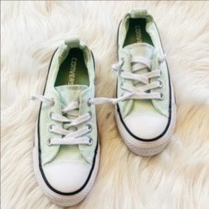 Converse Textured Sneakers Mint Green Size 5